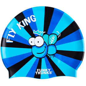 Funky Trunks Silicone Gorro de natación, fly king